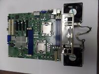 Super Micro X8DTL-iF, LGA 1366,, ATX with 2 x Xeon E5620, I/O Shield and fans