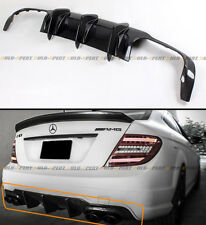 FOR 12-14 MERCEDES-BENZ C63 AMG BIG SHARK FIN CARBON FIBER REAR BUMPER DIFFUSER