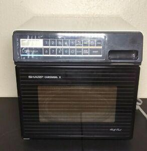 Vintage Sharp Half Pint Carousel II R-4280 Compact Microwave Oven .5CF  HTF