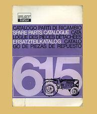 FIAT 615   Schlepper Traktor  Ersatzteilliste  Orginal 1965
