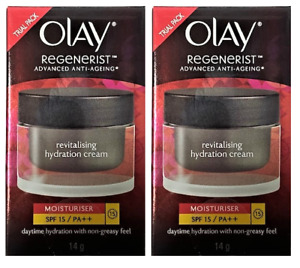 Olay Regenerist Anti Aging Revitalising Hydration Cream, SPF 15, .50 oz (2 Pack)