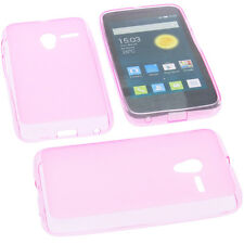 Case for Alcatel One Touch Pixi 3 4.0 3G/4G Cell Phone Case TPU Pink Rubber