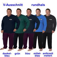 Herren Schlafanzug Pyjama Nachtwäsche Baumwolle Gr. 58 60 62 64 3XL 4XL 5XL 6XL