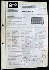 Historische Radio-Anleitung Graetz Arcadia 06 Y 1966 Original Sehr selten