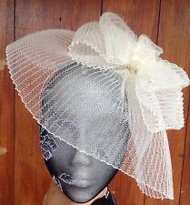 Ivory fascinator millinery burlesque wedding hat hair piece ascot race bridal