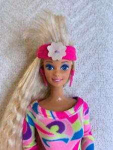 1991 Totally Hair Blonde Barbie doll with Jewelry Malaysia
