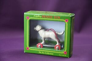 Schylling Tin Penny Toy  2003 - Dog on Rolling Platform Miniature MIB