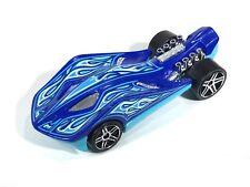 Hot Wheels Super Stinger 1186 Light Baby Blue Dark Blue Race Car Flames 2009