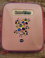 Vtech InnoTab 2 2S, 3 3S Storage Tote Girls Carry Case w handle Pink w Flowers