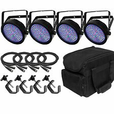Chauvet SlimPar 64 RGBA LED Par Can Uplighter DMX DJ Disco Lighting Bundle