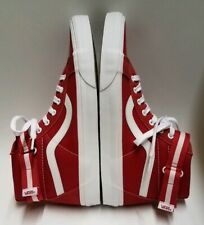 VANS SK8 HI Size 11 Men's Red Formula With Straps Skateboard Shoe