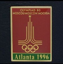 Olympic Pin Badge~Poster Pin~Moscow, Soviet Union 19801996 Atlanta~NEW on CARD!!