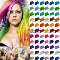 Fashion Womens Colorized Straight Clip In Synthetic Hair Extensions Hair Pieces