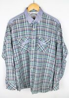 Tommy Hilfiger Denim Men Casual Shirt Check Cotton size XL