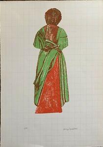 Lorenzo Tornabuoni litografia Manichino 1967 50x36 firmata numerata 4/40
