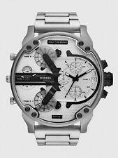 Diesel MR.Daddy 2.0 Stainless Steel White Chronograph Silver Men's Watch DZ7421