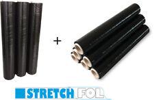 9 x Rollen Stretchfolie Palettenfolie Verpackungsfolie 23 my 1,5 kg schwarz