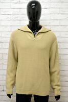 Maglione Uomo AVIREX Taglia Size XL Maglia Felpa Pullover Sweater Man Lana Beige