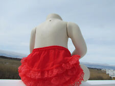 Vtg baby ruffled panties red Her Majesty T-2 lace 1960s 50s dolls bears costume