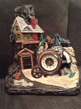 VINTAGE NARCO GERMANY CERAMIC GNOME WITH HOUSE CLOCK