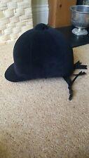 Zaldi Velours Noir Casque Équitation Chapeau Taille 60 - 7 3/8