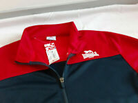 Lonsdale Track Top Jacket Navy Blue/Red Size XL Mens Full Zip Casual Brand New