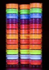 12 Boxes Stacks Neon Pigment Powder Set Glow in the Dark Luminous Eye,Hair Nails