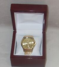 Timepieces by Randy Jackson MENS SWISS Gold Tone Bracelet Watch NEW