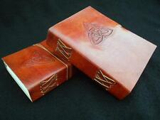 Handmade Leather Diary Journal Book of Shadows - Celtic TRIQUETRA Knot
