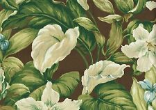 2.75 Yds  Mill Creek Fabric Belgium Rangely Chocolate Brown Green Blue Outdoor