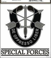 ARMY SPECIAL FORCES DE OPPRESSO LIBER CAR WINDOW  DECAL