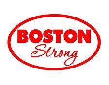BOSTON STRONG VINYL DECAL RED 5X9 MARATHON IN MEMORY MASSACHUSETTS PEACE LOVE
