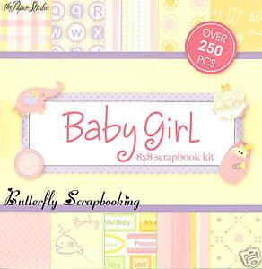 SWEET BABY GIRL 8x8 Scrapbooking Kit Paper Studio NEW