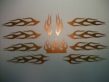 Bicycle Bronze Flame Decal Sticker KIT BMX Mountain Helmet Cycle Race Bike Parts