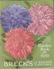1950 Seed Catalog Garden Book Breck's of Boston Flowers Vegetables Tools Roses