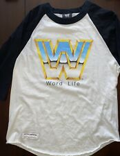 "John Cena 2003 WWE ""Word Life"" Ragland T-Shirt Medium WrestleMania 20"