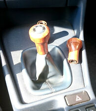 BMW E30 E36 3er E28 E34 E32 E24 6er Schaltknauf Holz mit Emblem steckbar NEU !!