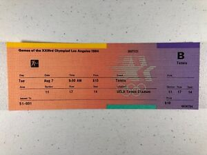 1984 Los Angeles Olympic Games Tennis Event Ticket from August 7th UNUSED