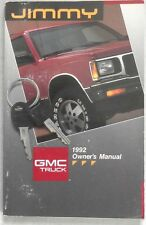 1992 GMC JIMMY TRUCK  OWNERS MANUAL