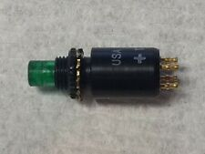 USA made Push-Button Green LED Switch 173K202A13 Mil Spec NSN 5930-01-336-7686