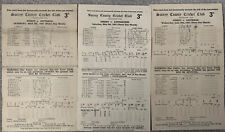 More details for 3 x cricket scorecards from the oval surrey 1948 onwards (bradman)