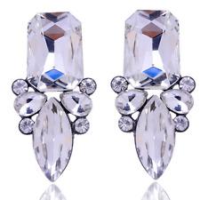 Fashion Women Vintage Square Drop Rhinestone Crystal Ear Stud Earrings Jewelry