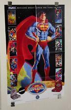 1994 Superman Skybox trading card promo poster: JLA/Wonder Woman/Batman/Doomsday