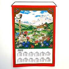 Stoffkalender,Textilkalender 2022 ohne Stab und Kordel