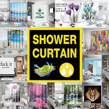 Waterproof Shower Curtain Bathroom Anti-slip Carpet Rug Bath Mat Toilet Cover