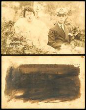 Philippines 1921 Manila Carnival Queen Carmencita I and King Consort RPPC