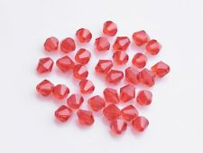 200x Wholesale 4mm Bicone Faceted Crystal Glass Loose Spacer Beads Charms Red