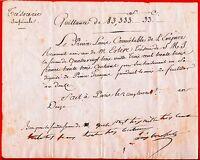 1023-AUTOGRAPHE-LOUIS BONAPARTE-FRÈRE DE NAPOLÉON BONAPARTE-ROI DE HOLLANDE-1805