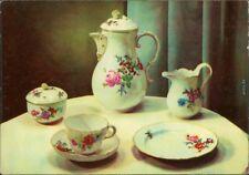 Ansichtskarte Meißen Porzellan-Manufaktur: Kaffeeserviceteile Form  1965