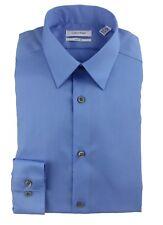 Calvin Klein Men's Dress Shirt Solid Non Iron 100% Cotton Slim Fit 33T0477 Blue